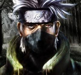 Naruto painting of Kakashi