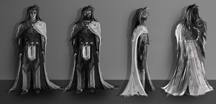 Ninja Concept art, character design turnaround.